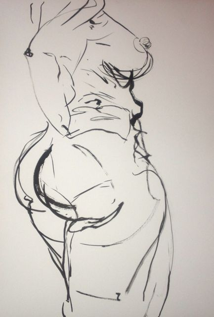Strong female, ink on quality paper 50 x 70